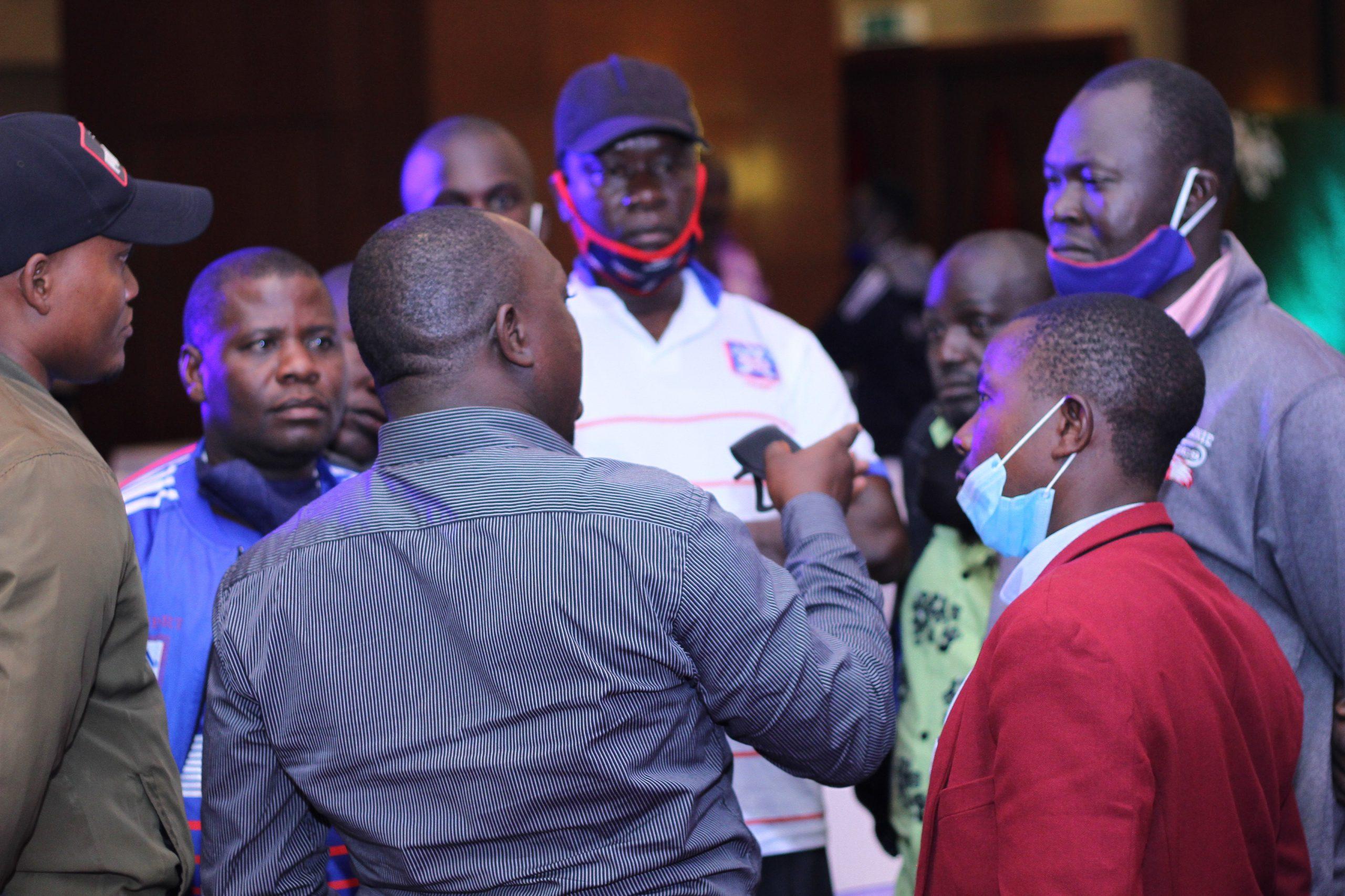 Sports Club Villa Club CEO explaining the VMT Process to fans at Sheraton Kampala Hotel