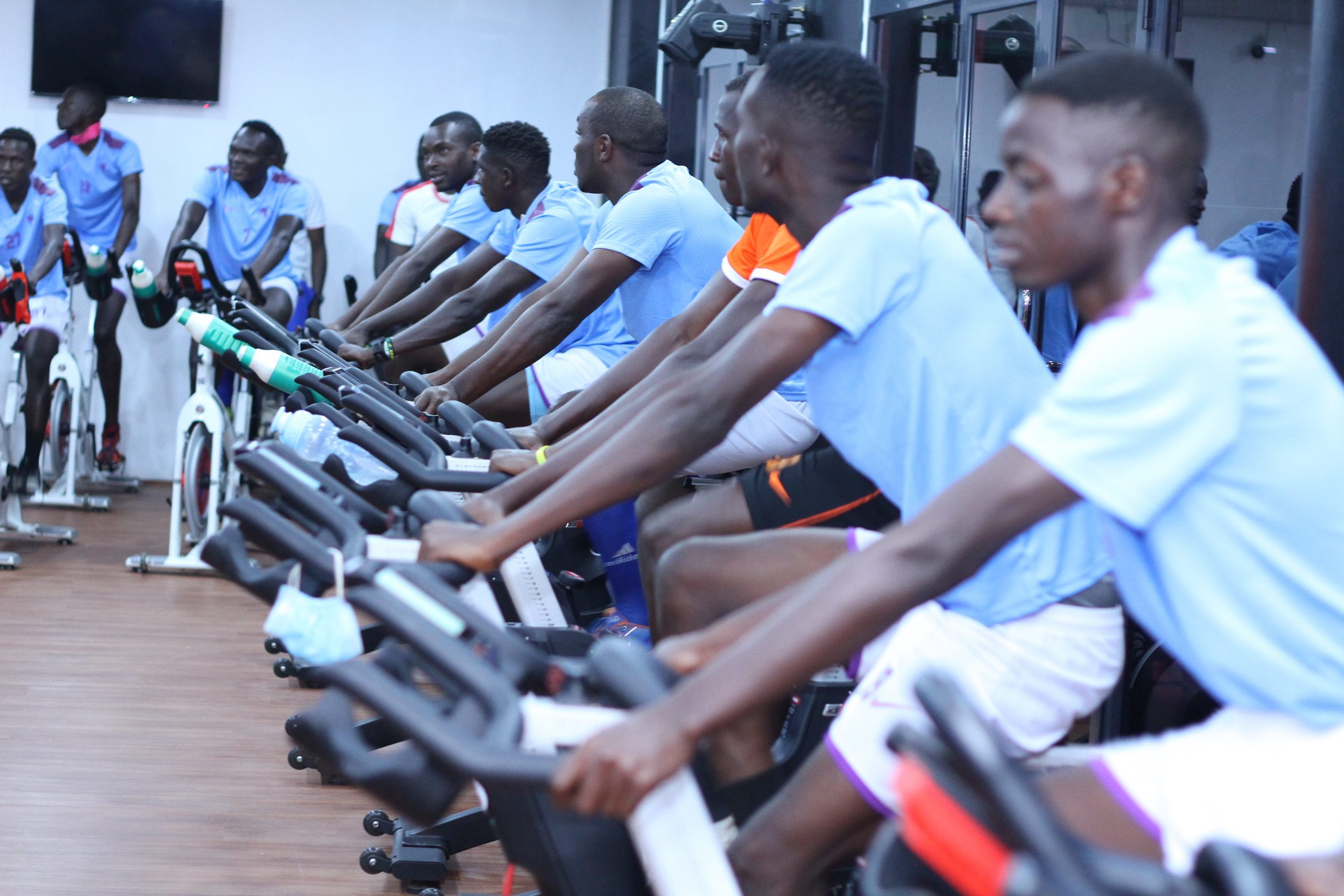 Team workout session at Ultimate Fitness Kampala